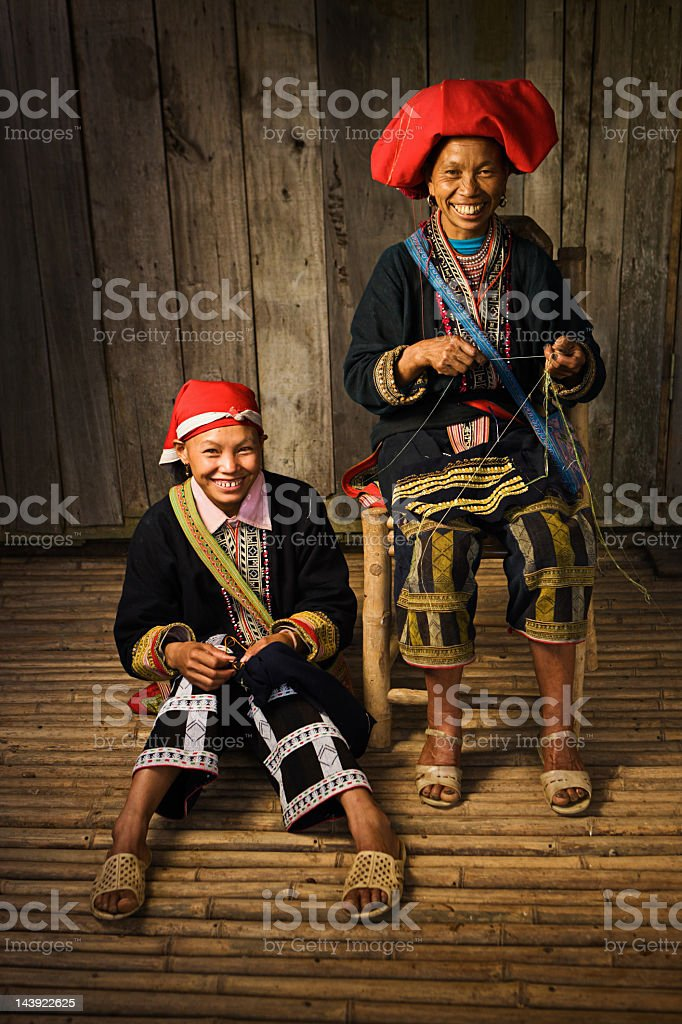 Vietnamese minority people - woman from Red Dao hill tribe royalty-free stock photo