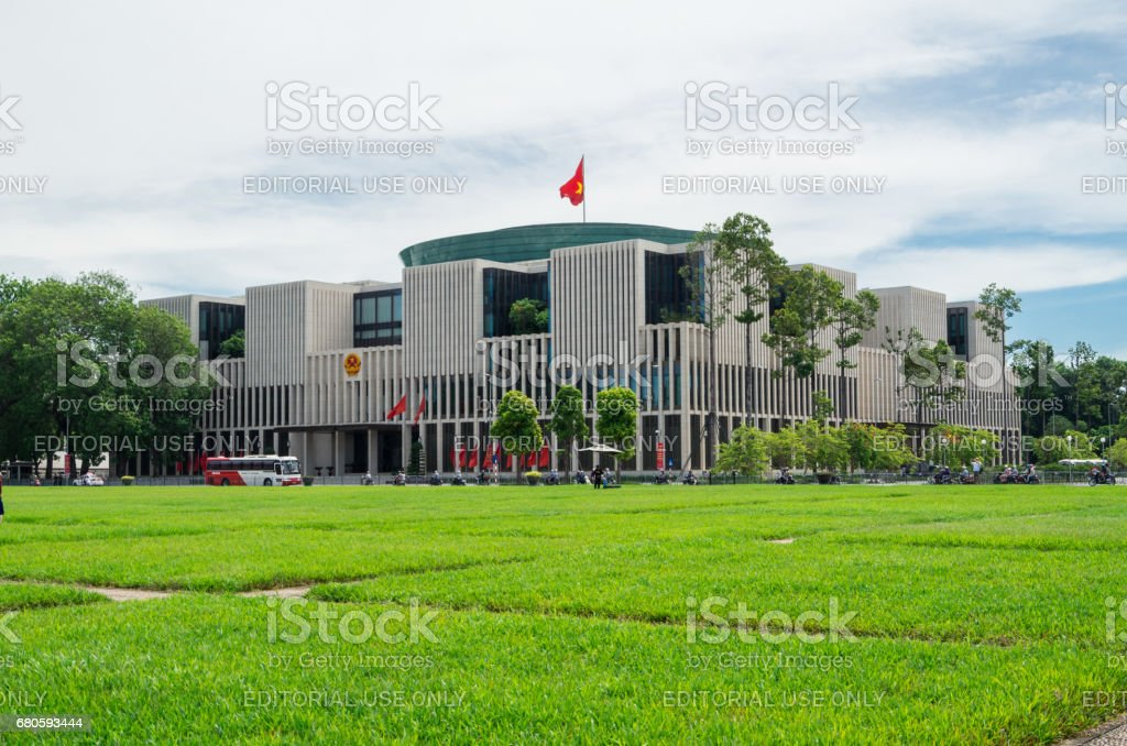 Vietnamese National Assembly building in Hanoi, Vietnam stock photo