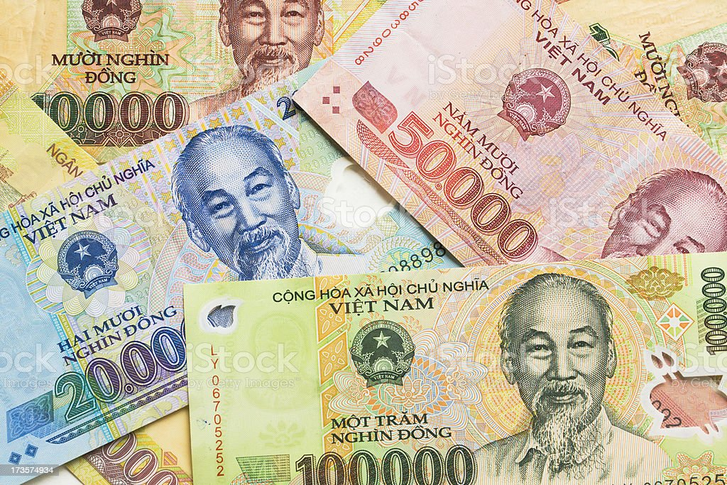 Vietnamese Paper Currency stock photo