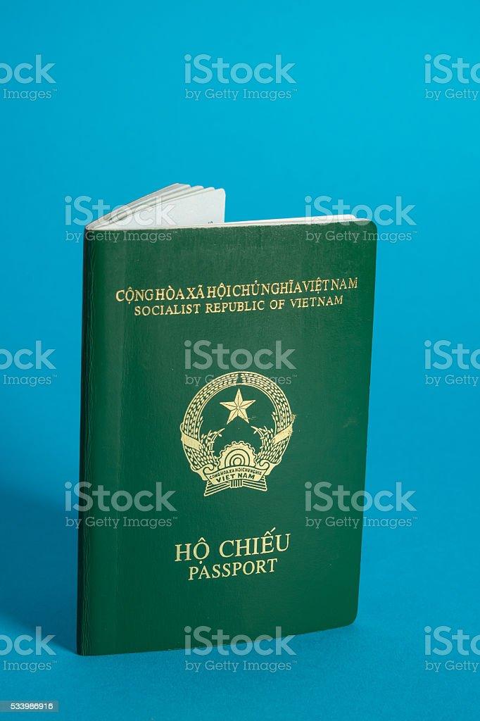 Vietnamese passport stock photo