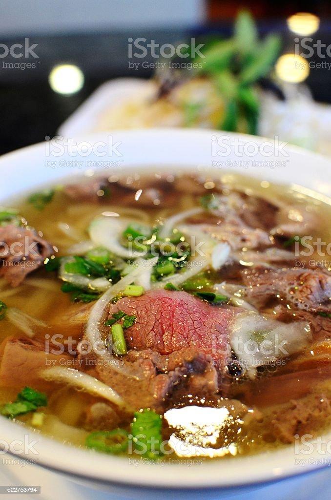 Vietnamese Pho Noodles stock photo