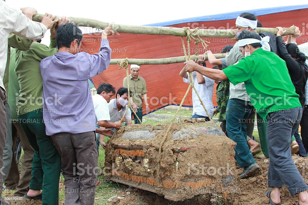 Vietnamese Reburial Rituals stock photo