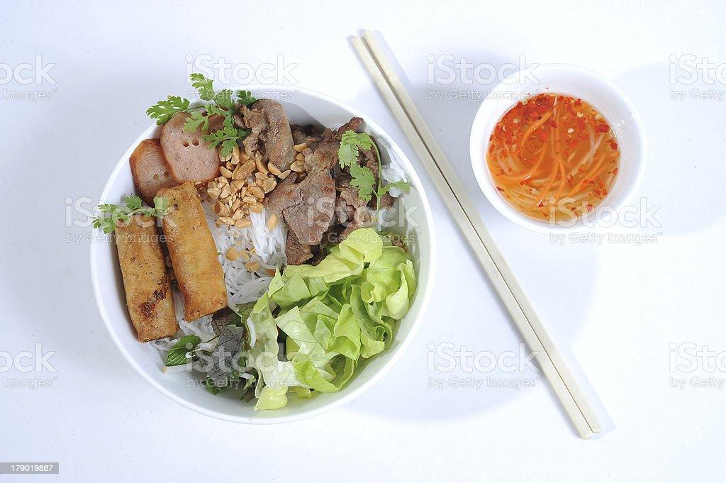 Vietnamese Rice noodles royalty-free stock photo