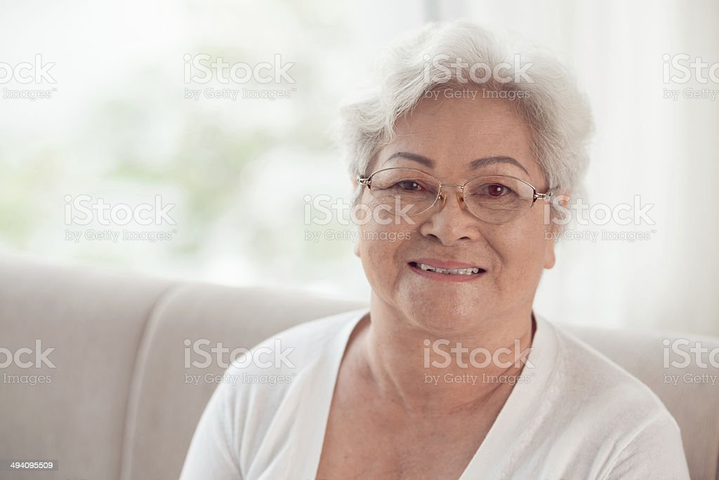 Vietnamese senior woman stock photo