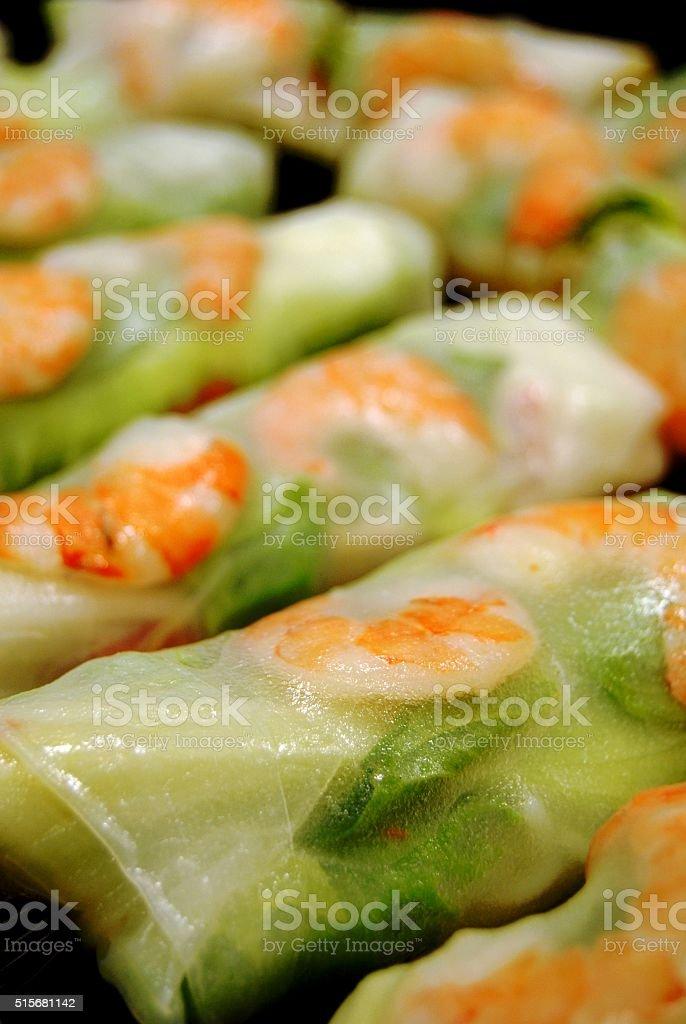 Vietnamese spring rolls stock photo
