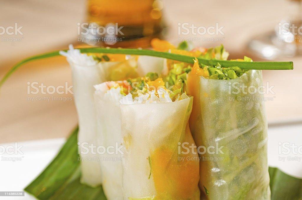 vietnamese style summer rolls royalty-free stock photo