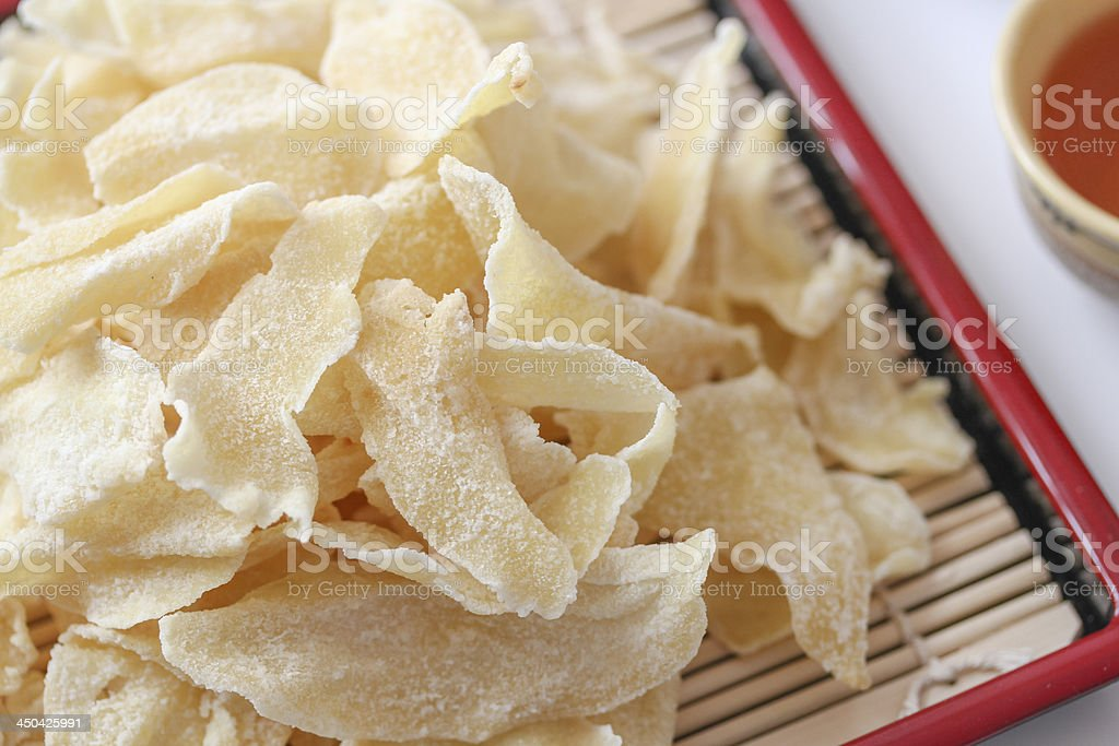 Vietnamese Traditional Food: Ginger Marmalade Slices stock photo