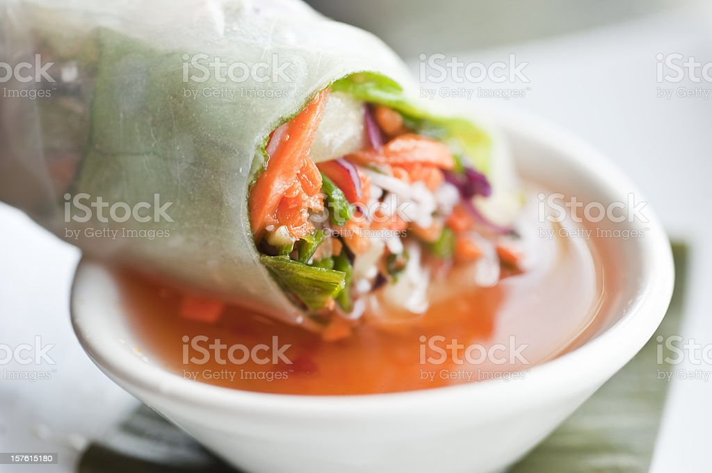 Vietnamese vegetable roll royalty-free stock photo