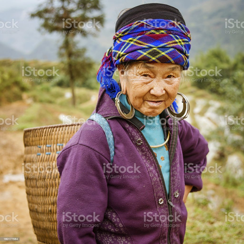 Vietnamese village woman stock photo