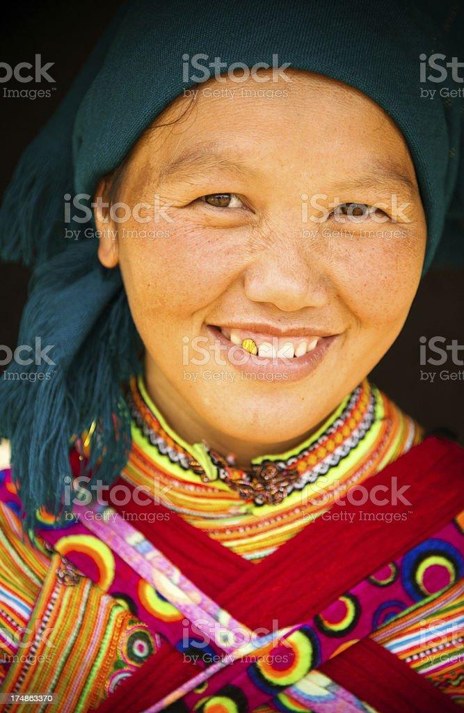 Vietnamese village woman royalty-free stock photo