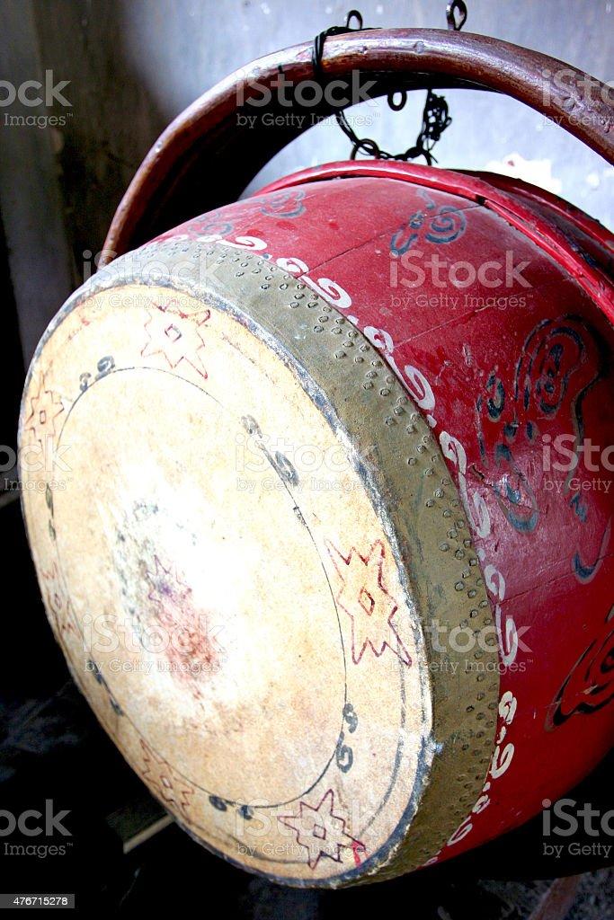 Vietnamese Wooden Drum stock photo