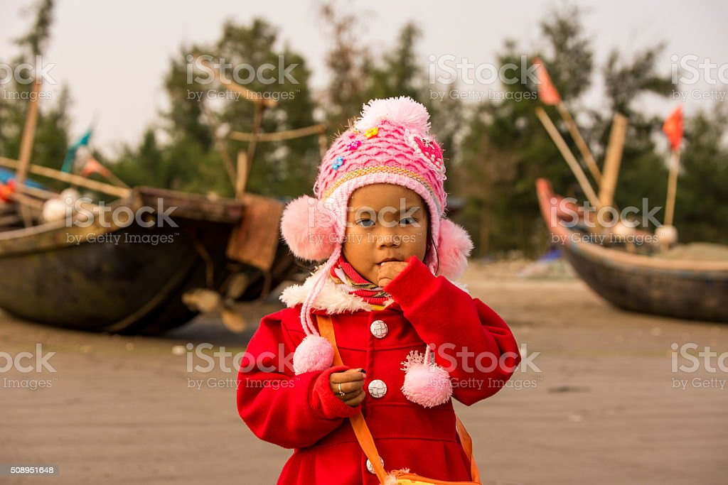 Vietnamese young girl - ethnic and traditional people stock photo