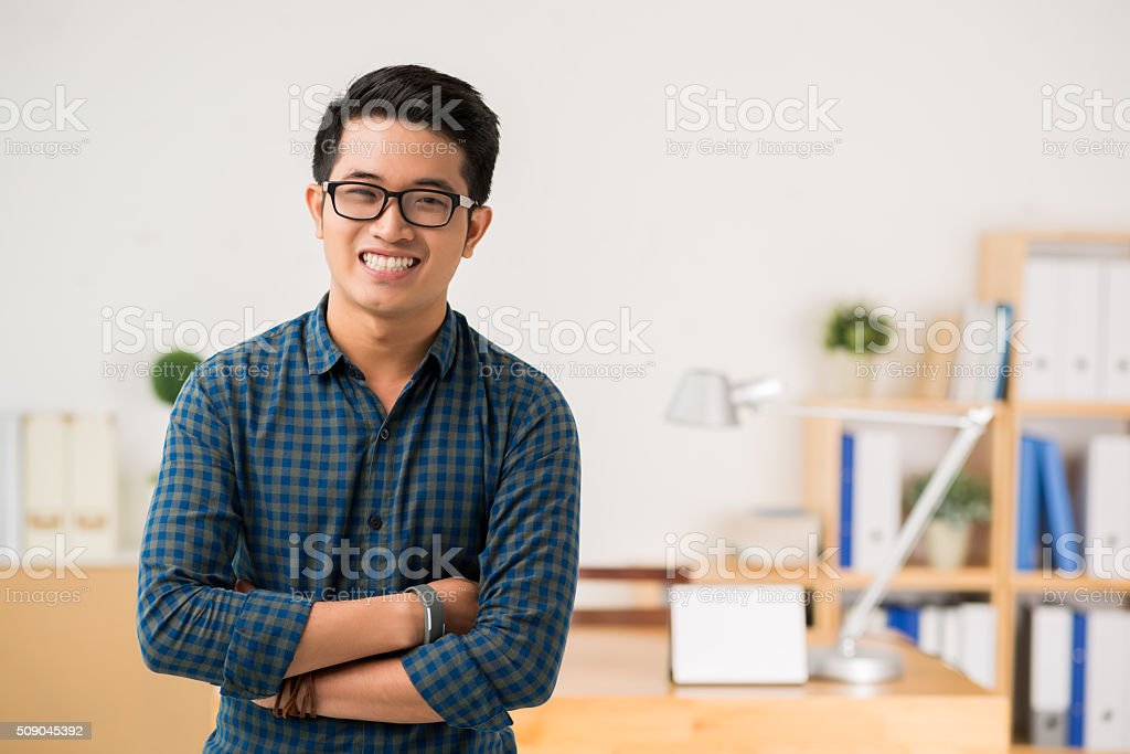 Vietnamese young man stock photo