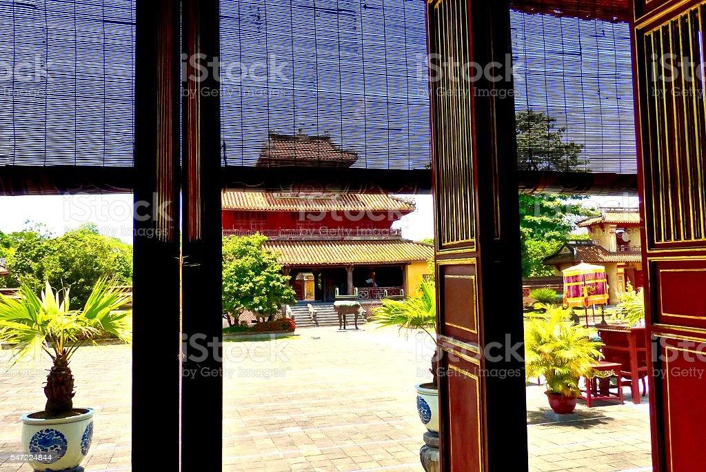 Vietnam-Hué, cité impériale, cité interdite, temple stock photo