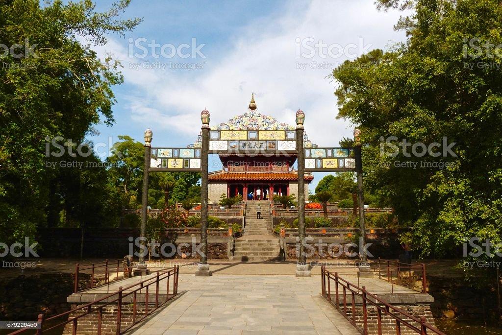 Vietnam-Hué, pagode, Tombeau minh mang, pavillon stock photo