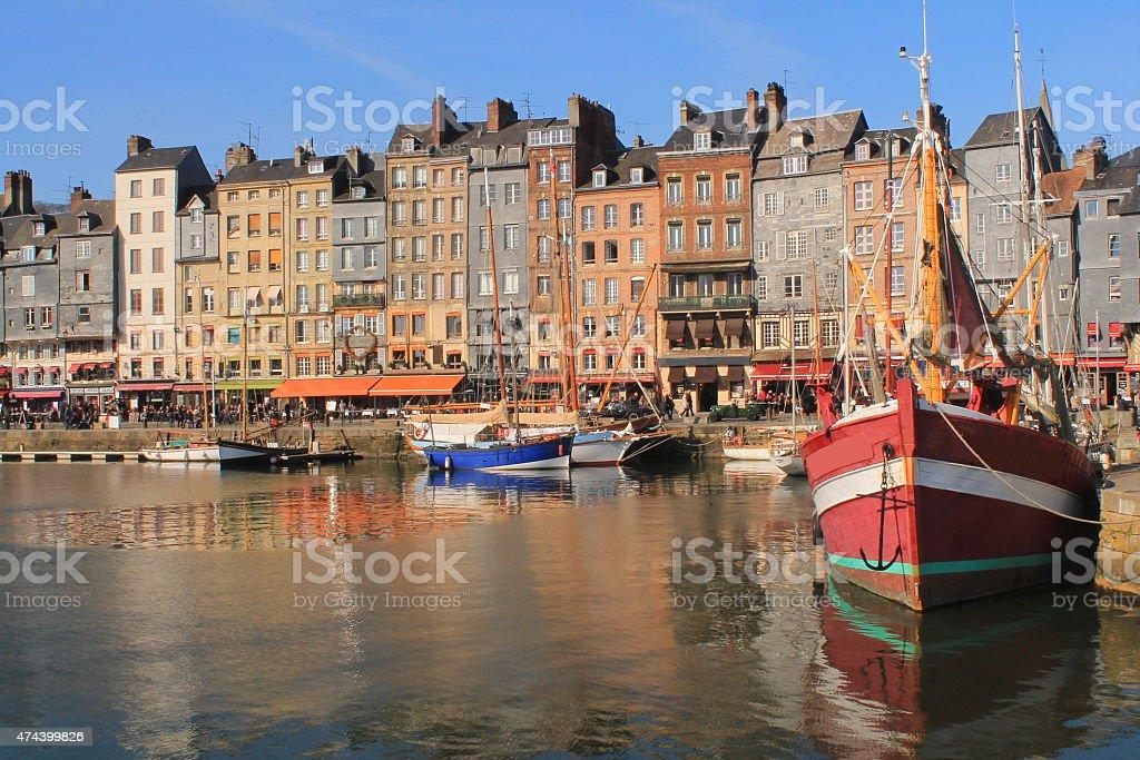 Vieux bassin d'Honfleur, France stock photo