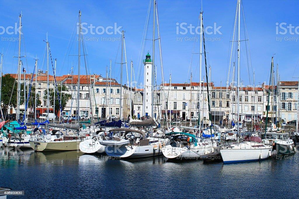 Vieux port de La Rochelle, France stock photo