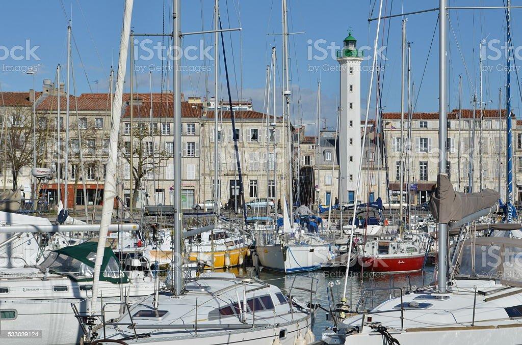 Vieux port de La Rochelle (France) royalty-free stock photo