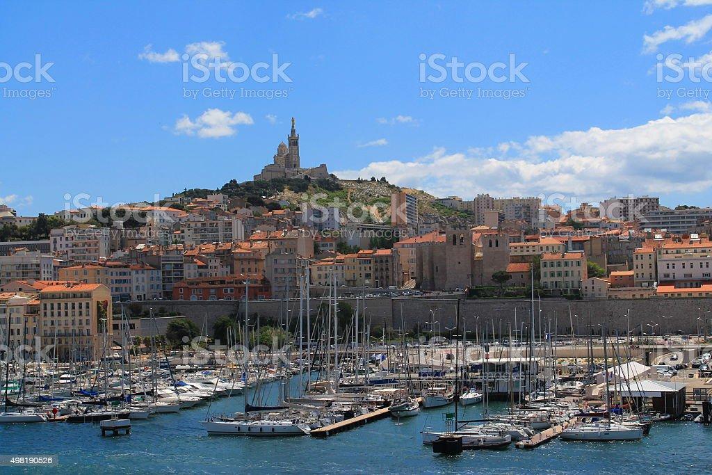 Vieux port de Marseille, France stock photo