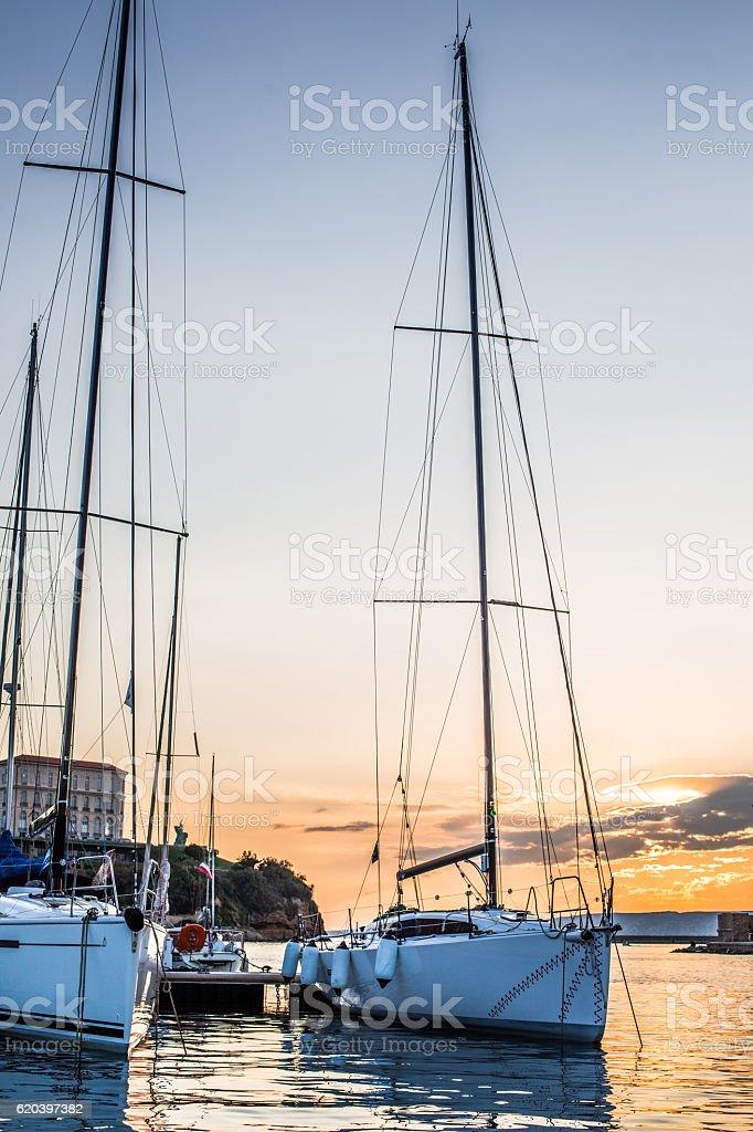 Vieux Port de Marseille stock photo