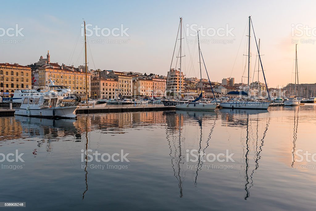 Vieux Port of Marseille, Provence, France stock photo