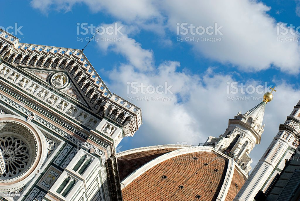 view about florence duome stock photo