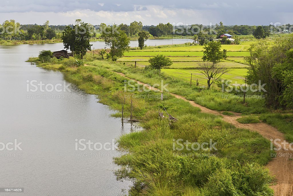 View above roadbed basin royalty-free stock photo