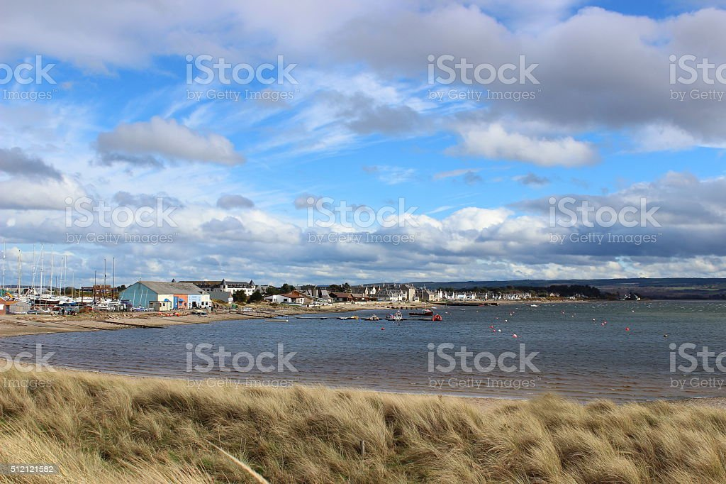 View Across Findhorn Bay stock photo