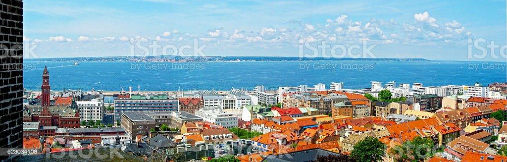 view across Helsingborg stock photo