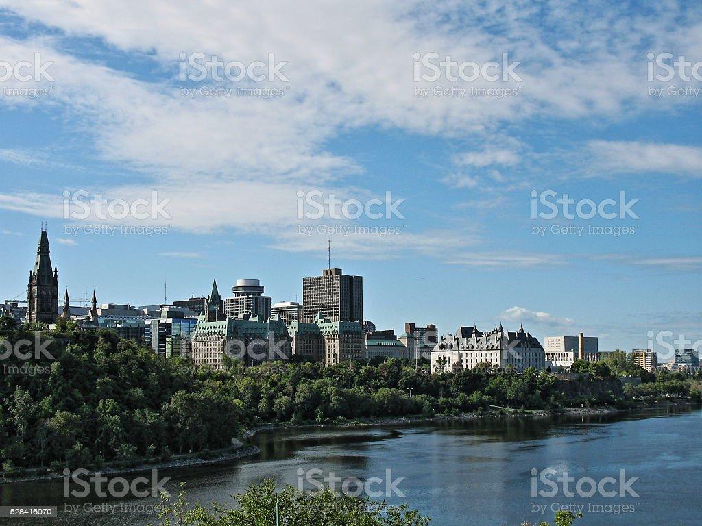 View Across Ottawa River, Ottawa, Ontario, Canada stock photo