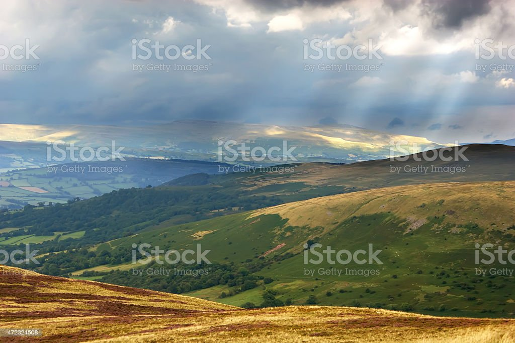 View Across the Brecon Beacons stock photo