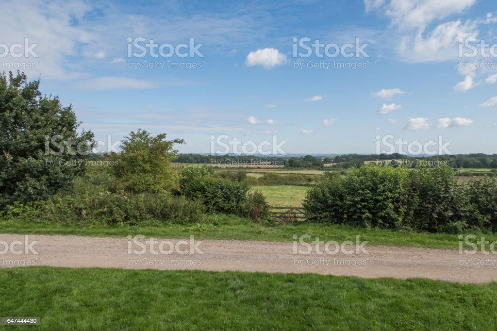 View across the fields around Sissinghurst stock photo
