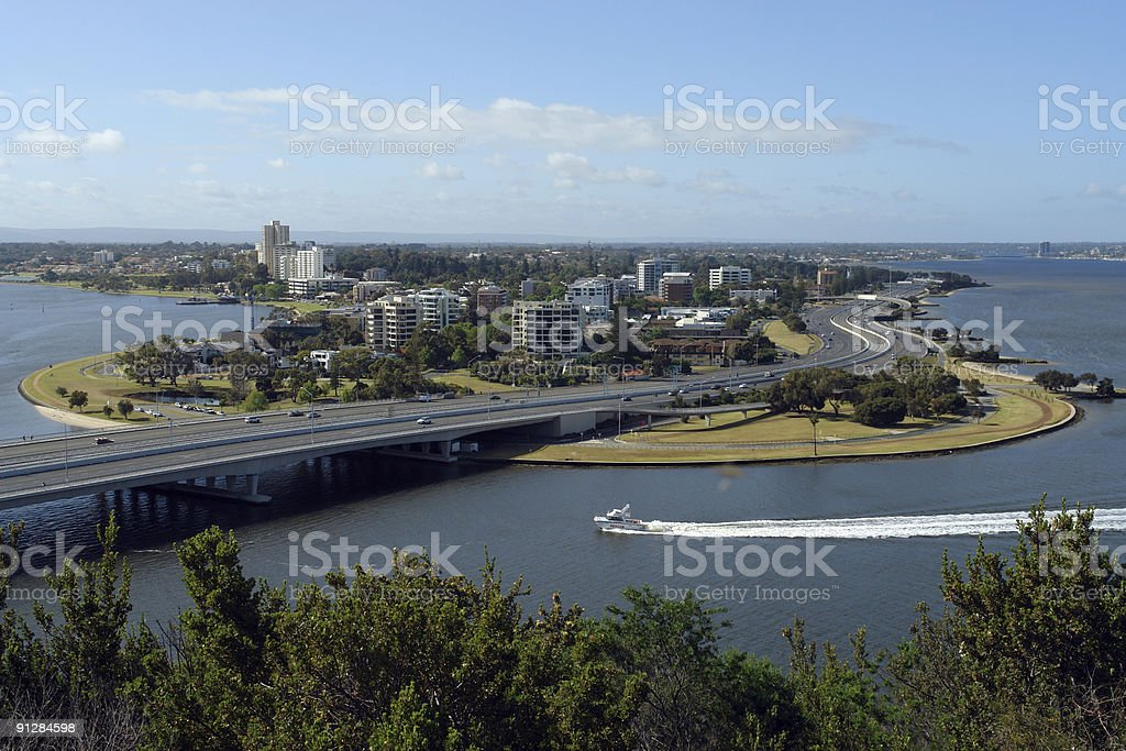 View Across the Swan River. royalty-free stock photo