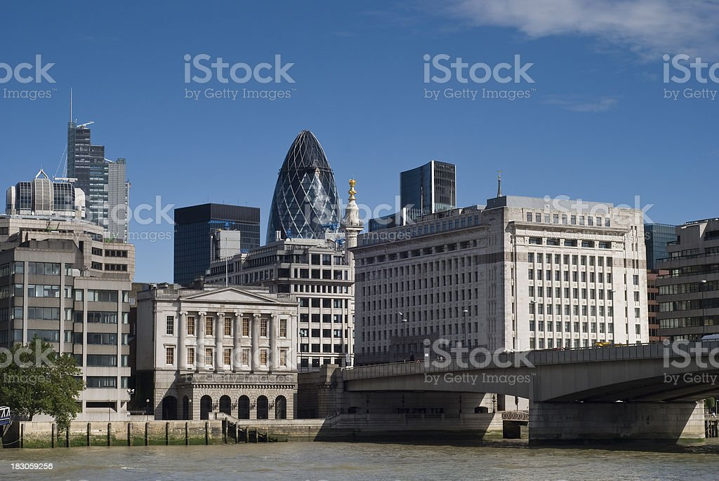 View across the Thames of 'The City' central London. royalty-free stock photo