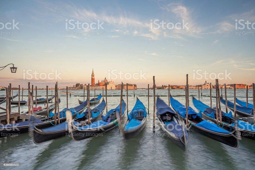 View across the Venetian Lagoon. stock photo