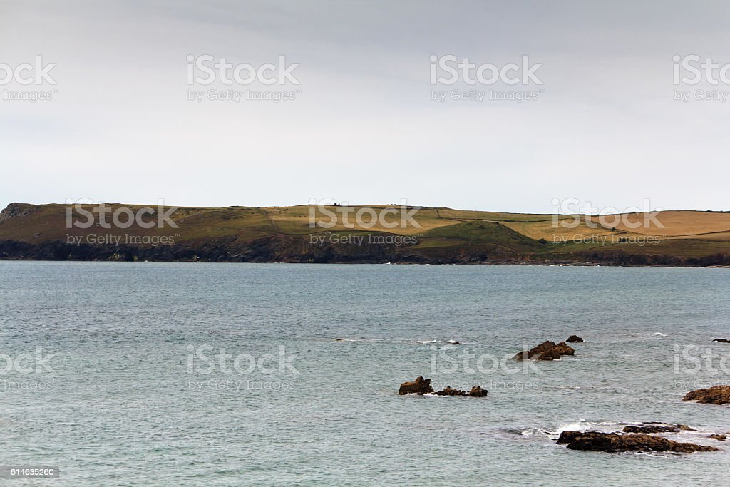 View along the coast from Rock near Padstow stock photo