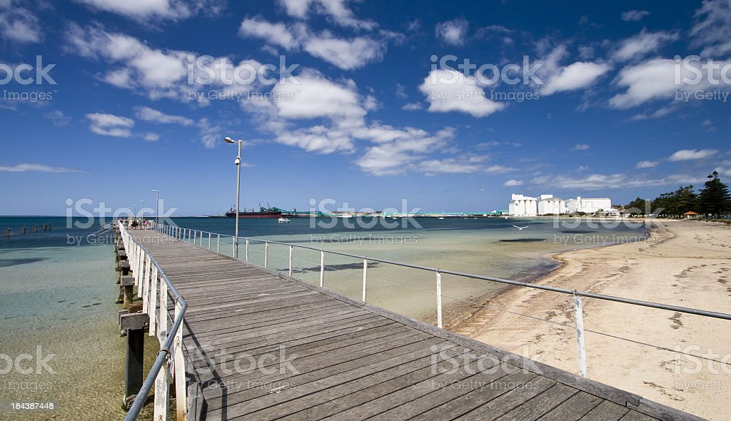 View along the pier at Port Lincoln royalty-free stock photo