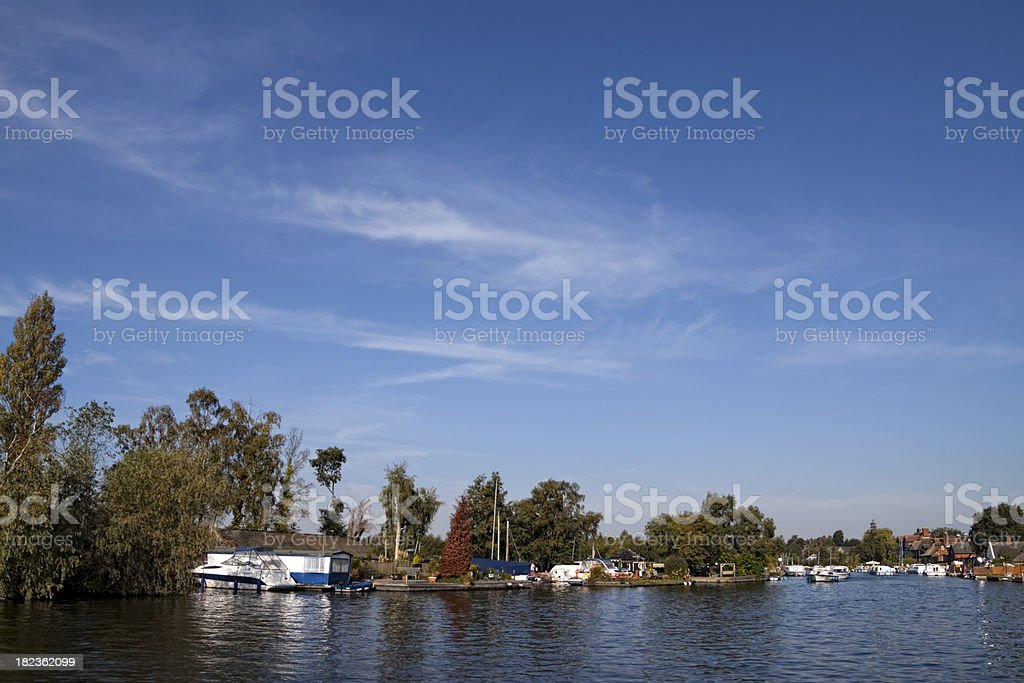 View along the River Bure stock photo