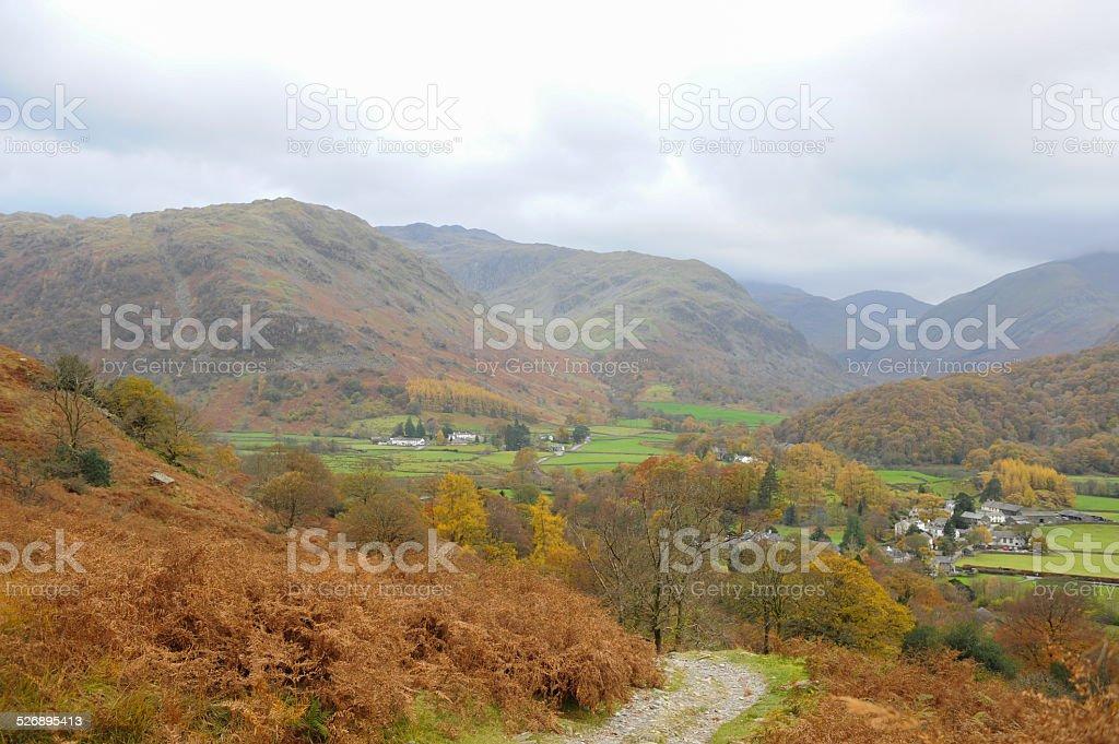 View around Watendlath in the English Lake District National Park stock photo