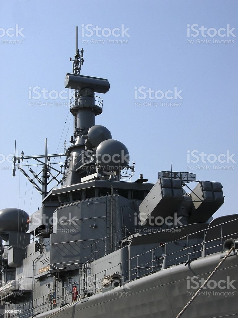 View at a battleship royalty-free stock photo