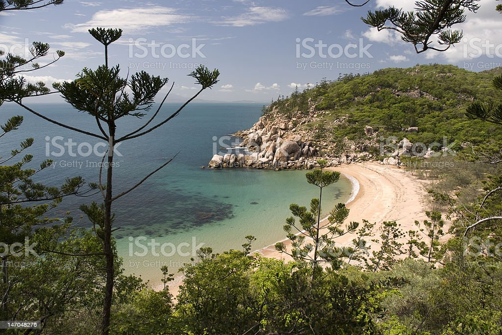 View at bay of Magnetic Island, Australia royalty-free stock photo