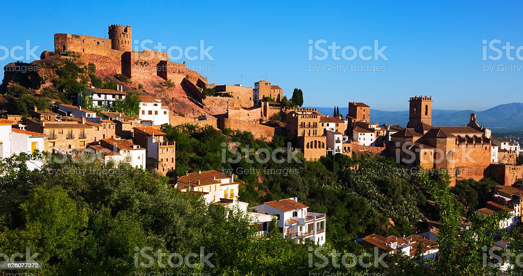 view at Castle of Villafames in summer stock photo