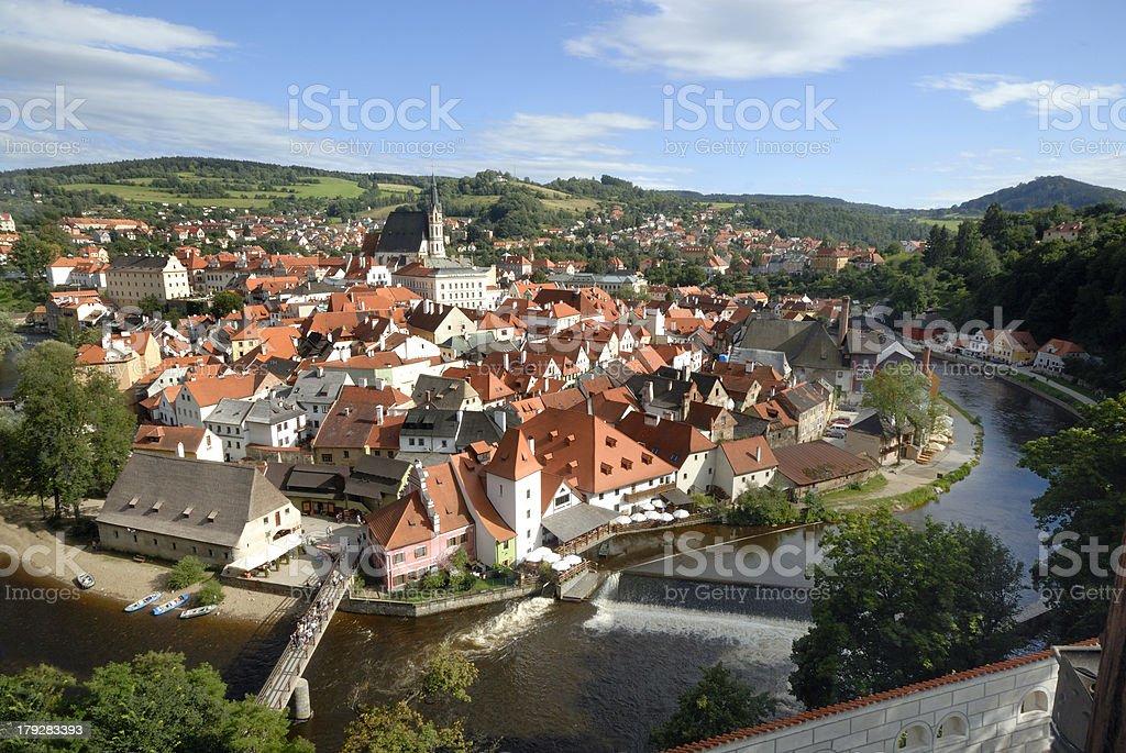 View at Cesky Krumlov royalty-free stock photo
