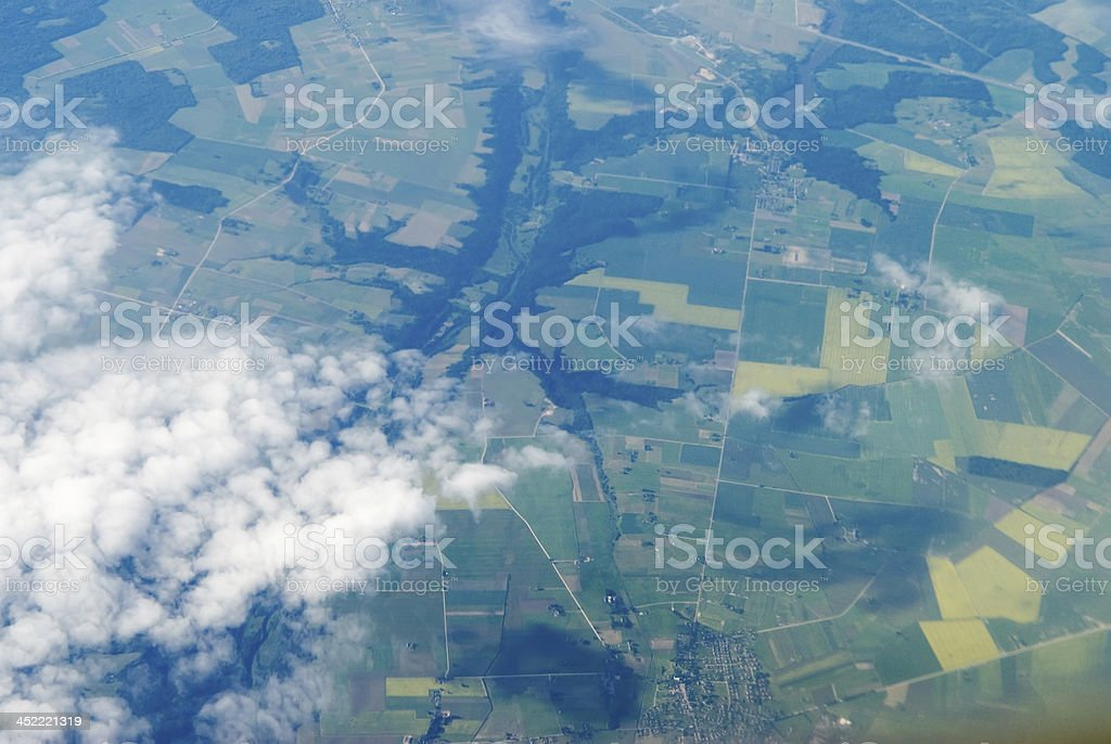 View at clouds royalty-free stock photo