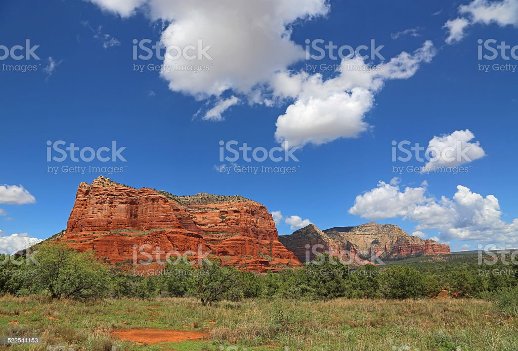 View at Courthouse Butte stock photo