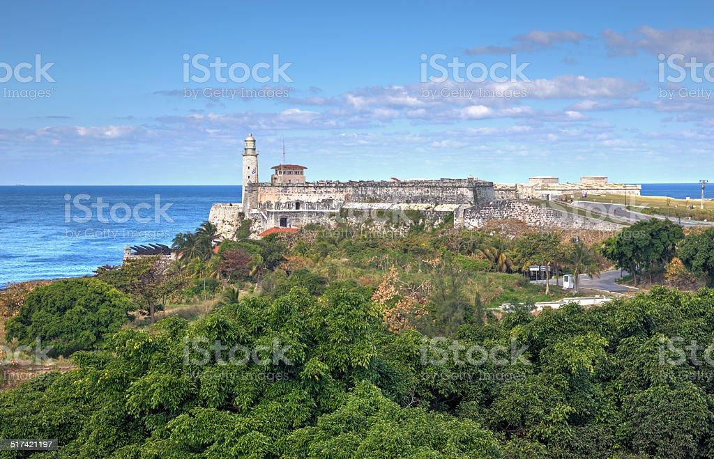 View at 'El Morro' stock photo