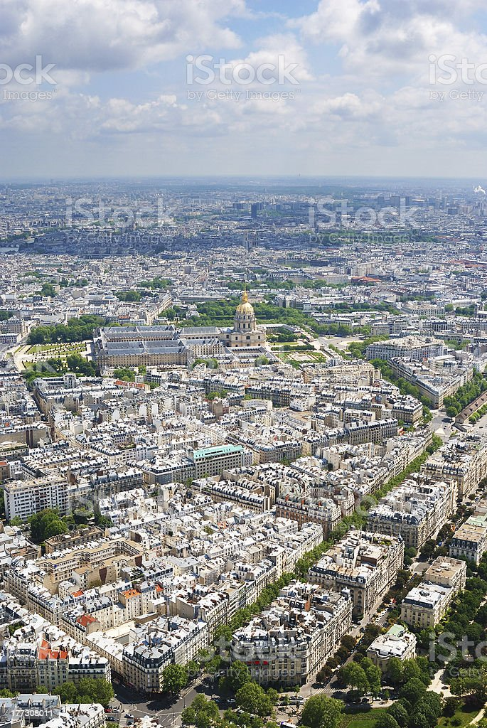 View at Invalides house royalty-free stock photo