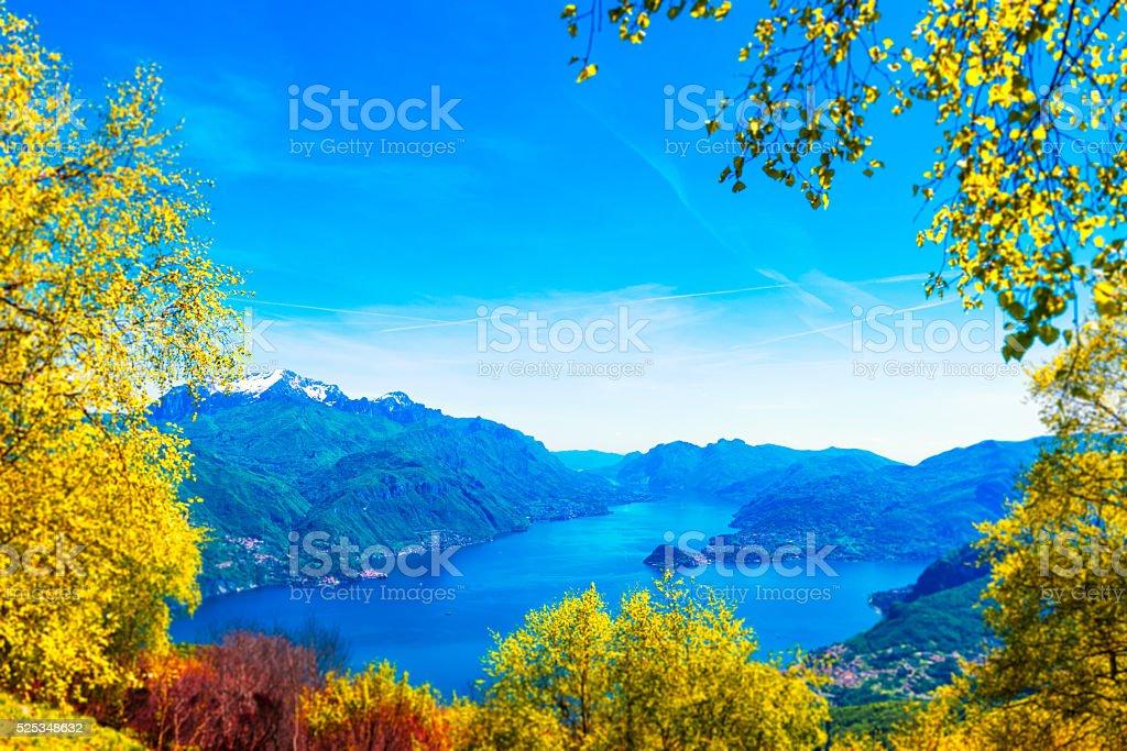 View at lake Como stock photo