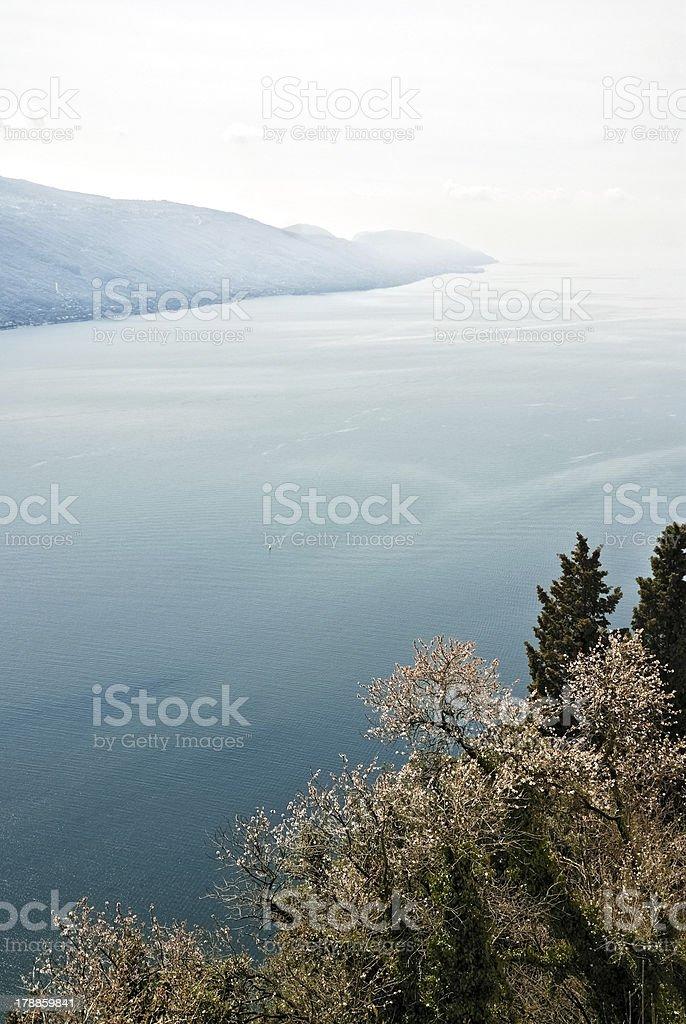 View at lake garda in Italy stock photo
