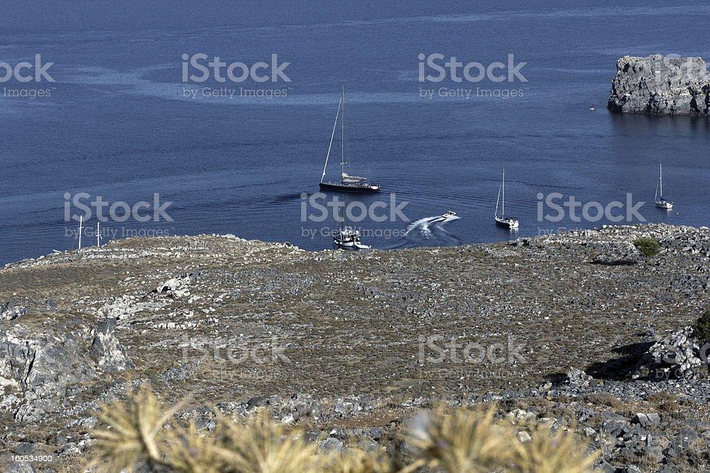 View at Lindos Bay royalty-free stock photo